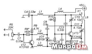 Схема радионяни и адаптера